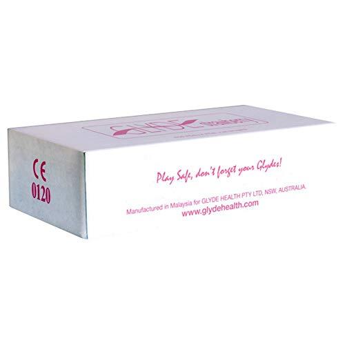 Glyde Ultra Strawberry (Erdbeere) 100 pinke Kondome, vegane Kondome, zertifiziert mit der Vegan-Blume