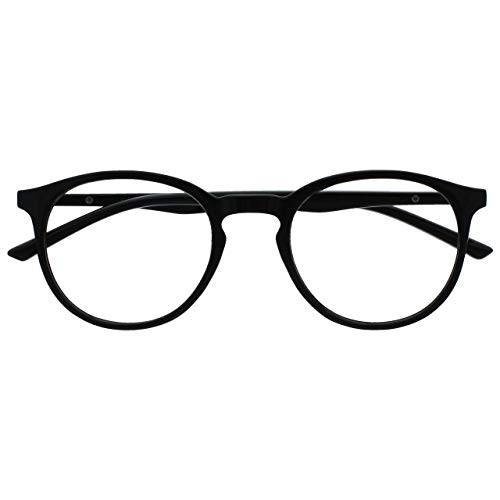 Opulize Met Distanzgläser Kurzsichtig Kurzsichtigkeit Groß Runden Schwarz Herren Damen Federscharniere M60-1 -1,00