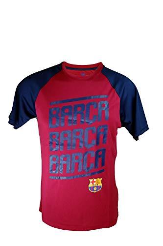 Icon Sports Herren Trikot FC Barcelona, offizielles Lizenzprodukt, Poly Shirt, Größe M