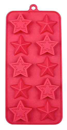 Patriotic USA Star Designs 10 Cavity Silicone Mold