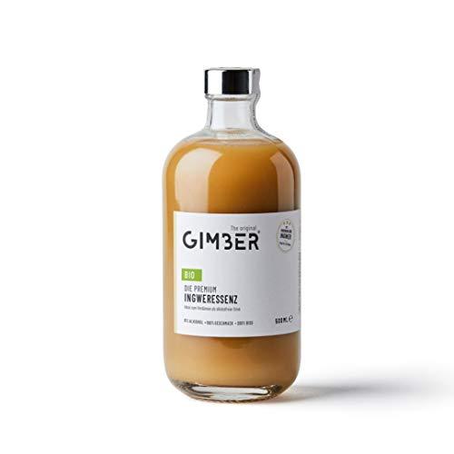 GIMBER Biologisches Ingwerkonzentrat 500 ml | Alkoholfreies Bio-Getränk aus Ingwer, Zitrone und Kräutern | Premium Ingwer Essenz