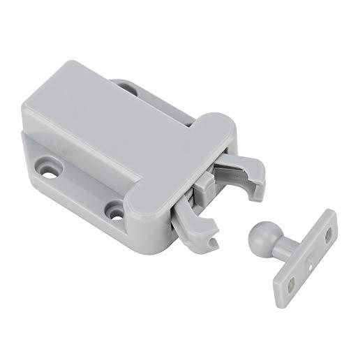 Kastdeur Zelfblokkerend apparaat, 10-delig Kast Kast Ladeblok Zelfvergrendelende rebounddeur Klink Hangslot Container Trailer Tags - Sloten voor voertuigdeuren(Grijs)