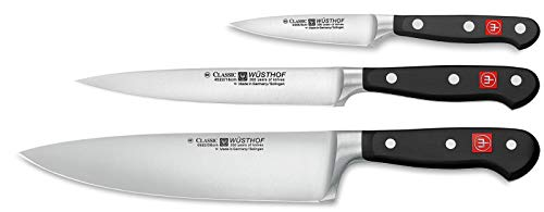 Wüsthof - Three Piece Cook's Set - 3 1/2' Paring Knife, 6' Utility Knife, and 8' Cook's Knife (9608)
