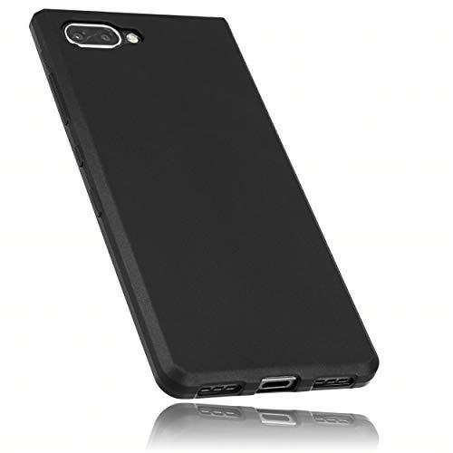 mumbi Funda Compatible con Blackberry KEY2 LE Caja del teléfono móvil, Negro