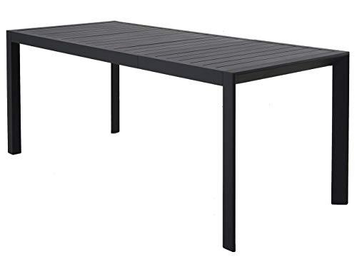 Chicreat - Mesa extensible de aluminio para jardín, 127-180 x 77 x 71,5cm (Gris- Carbón) ✅