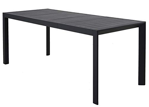 Chicreat Extendable Garden Table, Charcoal, Aluminium, 127-180 x 77 x 71.5 cm