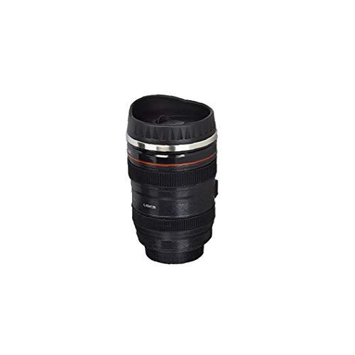 Heall Kaffeetasse Kamera-Objektiv-Shaped Reise Thermos Edelstahl Thermobecher mit Easy Clean Deckel