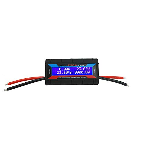 Proshopping 200A RC Watt Meter, High Precision Power Analyzer, DC 0-60V Volt Amp Watt Checker Tester, with Digital LCD Screen- for voltage(V) current(A) Power(W) Charge(Ah) and Energy(Wh) Measurement