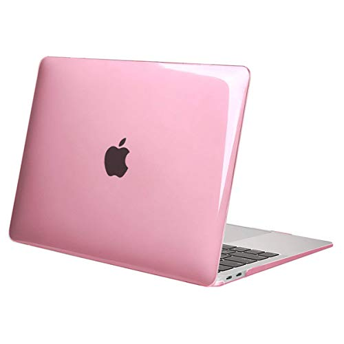 MOSISO MacBook Air 13 inch Case 2020 2019 2018 Release A1932 A2179 with Retina Display, Plastic Hard Case Shell Cover Only Compatible with MacBook Air 13 inch with Touch ID, Crystal Pink