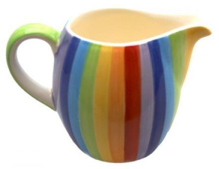 Windhorse Regenbogen-gestreifte Keramik milchkännchen (small)