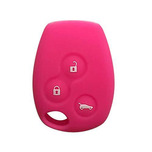 Cubierta de la llave del coche, carcasa de la llave del coche, ajuste para Renault Sandero Trafic Kengo 2 2008 Duster Logan Fluence, rosa