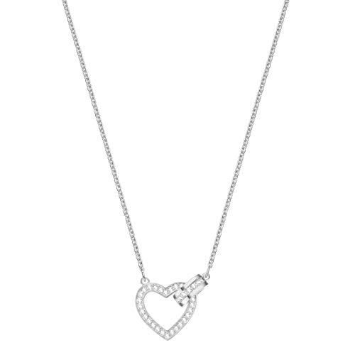 Swarovski Lovely Halskette für Frauen, weißes Kristall, rhodiniert