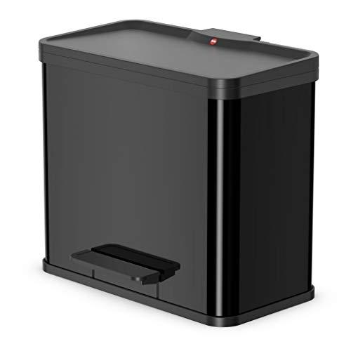 Preisvergleich Produktbild Hailo ProfiLine Solid Öko trio L Mülltrenner (aus Stahlblech / Kunststoff,  3x9 Liter,  3 einzeln herausnehmbare Inneneimer,  Deckeldämpfung (Soft Close)) 0633-100