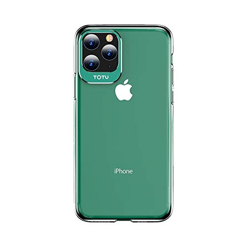 LWL House Case for iPhone 11 Pro Clear Crystal Series Metal + PC Funda Protectora Durable (Color : Green)