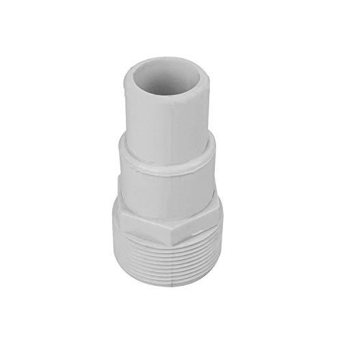 Linxor France  Adaptateur à visser 1-1 2 - emboîter Diam 32 38 mm pour tuyau flottant de pisicne - Blanc - Norme CE