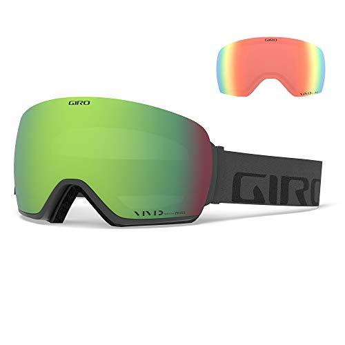 Giro Article Masque de Ski pour Homme, Homme, Gris foncé/Rouge Vif, Taille Unique