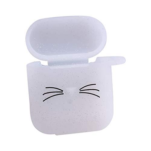 Preisvergleich Produktbild Wanshop Für Tasche Silikonhülle Airpods Case Hülle,  Schlank und Leicht Hülle Stoßfeste Schutzhülle für Aufladen Case Stoßfeste Schutzhülle (klar)