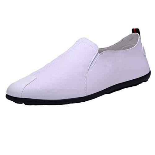 Sayla Zapatos Zapatillas para Hombres Casual Moda Verano Zapatos Sin Cordones CóModos Hombre Mocasines De PU Guisantes Zapatos De Barco De ConduccióN Transpirable