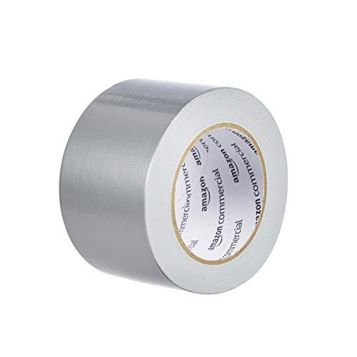 AmazonCommercial - Cinta americana, muy resistente, fuerza avanzada 7.31 cm x 27.43 m, paquete de 6 unidades, color plateado