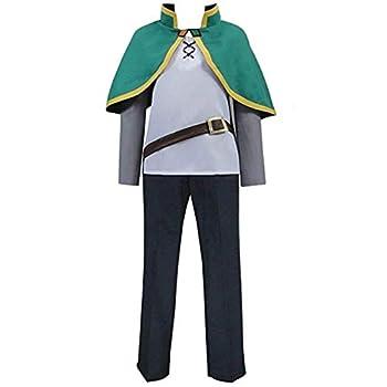 Anime KonoSuba God s Blessing On This Wonderful World Cosplay Costumes Kazuma Satou Uniforms Halloween Party  S  Black