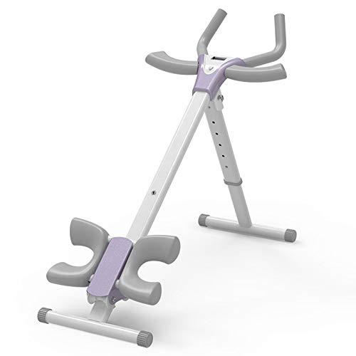 QQYYY Heimtrainer klappbar Rückentrainer, Bauchtrainer, Profi AB Trainer, Fitnessgerät mit LCD-Display, verstellbar einem Einfach und platzsparend zu verstauen,Weiß