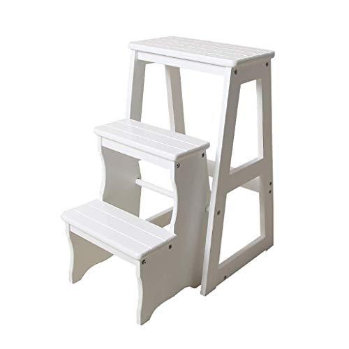 N/Z Home Equipment Blumenständer Dreistufige Treppe Treppe Hocker Leiter Massivholz Küchenleiter Hocker Klappregale Multifunktions Klappleiter Stuhl Regal Regal