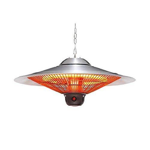 Heizung, 2500W Außenheizlampe, Hängende wasserdichte Infrarot-Halogenrohrheizung, Ferngesteuerte Haushaltsheizung, 74x33,5 cm.
