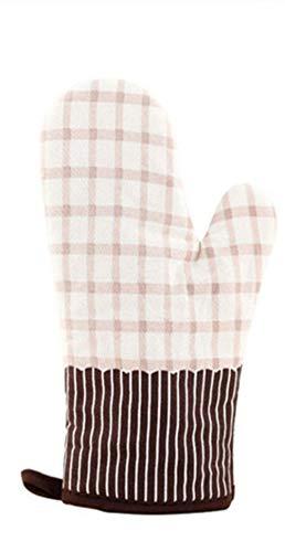 LINWX 1 PCS Mignon Coton Mode Nordic Cuisine Cuisson Ski Hiver Gants Cuisson BBQ maniques De Four Moufles Four Gants De Four À Micro-Ondes, Beige