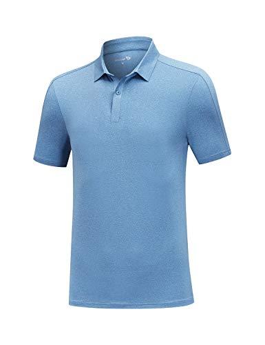 BALEAF Men's Golf Polo Shirts Lightweight Quick Dry Short Sleeve Shirt...