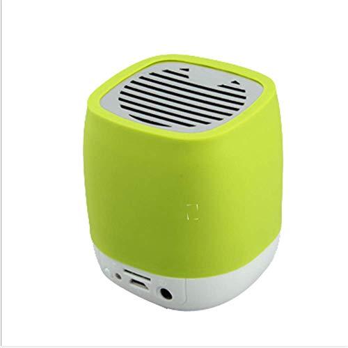 WENLONG Precio De Fabrica Wireless Bluetooth Speaker Altavoz Bluetooth Tarjeta De Telefono Movil Bluetooth Mini Bass Audio De Ordenador,Verde