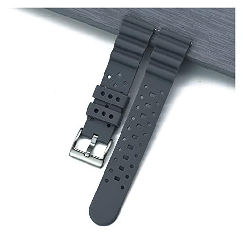HANLILI kasu Correa de Reloj de Goma de Silicona de Grado Premium 20 mm 22 mm Ajuste para S-Eiko SRP777J1 Nueva Banda de Reloj de liberación rápida Buceo Buceo Impermeable.