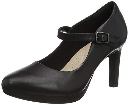 Clarks Damen Ambyr Shine Pumpe, Black Leather,37.5 EU