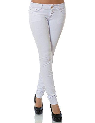 Daleus Damen Hose Treggings Skinny Röhre (weitere Farben) No 13011, Weiß, 40