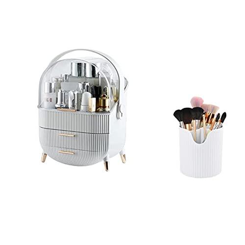 Alavo Kosmetischer Aufbewahrungsbox, Hautpflegeprodukte Schlafzimmermöbel Lagerschrank,White b,28.6X18.5×37cm