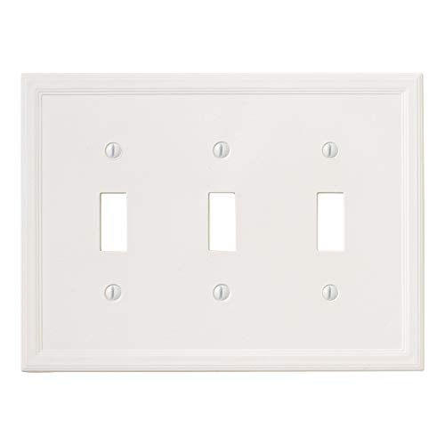 Insulated Triple Toggle - White Light Switch Cover Decorative Outlet Cover Wall Plate