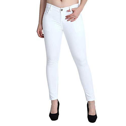 ZXN Clothing Women's & Girls' Regular Fit Jeans (XJ-37-WHT-28_White_28)