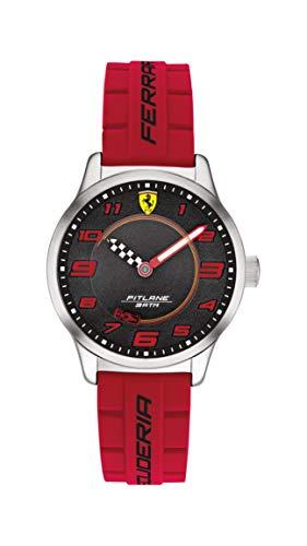 Scuderia Ferrari Reloj Analógico para Niños de Cuarzo con Correa en Silicona 0860013