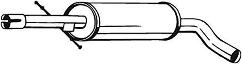 Mittelschalldämpfer (1220-1689) Dämpfer Abgasanlage Auspufftopf