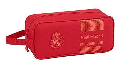 Real Madrid CF Bolso Zapatillas Zapatillero 34 cm, Rojo