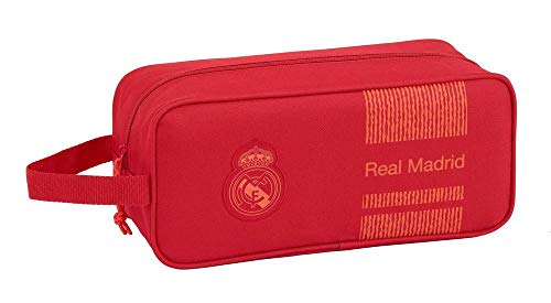 Real Madrid CF Bolso Zapatillas Zapatillero 34 cm, Rojo