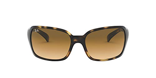 Ray-Ban Women's RB4068 Rectangular Sunglasses, Brown (710/51 Light Havana)