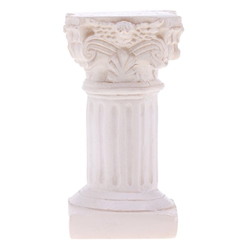 Fenteer Marbel Colonne Romaine Modèle Miniature accessoire de disposition de paysage de yard de jardin