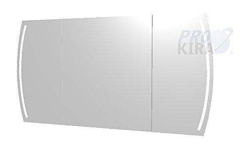 PELIPAL Contea Spiegelschrank inkl. LED Beleuchtung/CT-S3E23-1370-17 / Comfort N/B: 128 cm