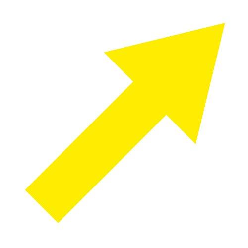 Aufkleber Tattoo Pfeil 20cm gelb breit Deko Folie Klebefolie Wegweiser Richtungspfeil