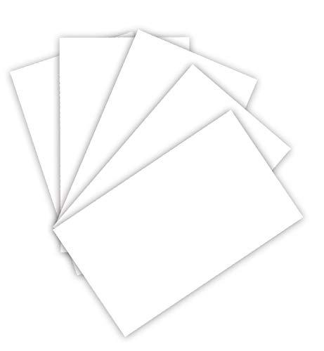 folia 6122/4/00 Tonkarton 220 g/m², Bastelkarton in weiß, DIN A4, 100 Blatt, als Grundlage für zahlreiche Bastelarbeiten