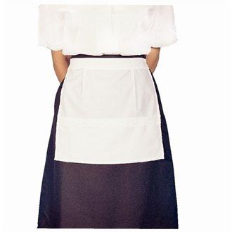 Whites Chefs Apparel B742 Kellnerin schort met tas, poly katoen, één maat