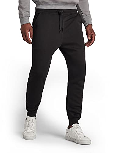 G-STAR RAW Herren Sweatpants Premium Basic Type C Sweat Pant Sweatpants, Schwarz (Dk Black C235-6484), XX-Large