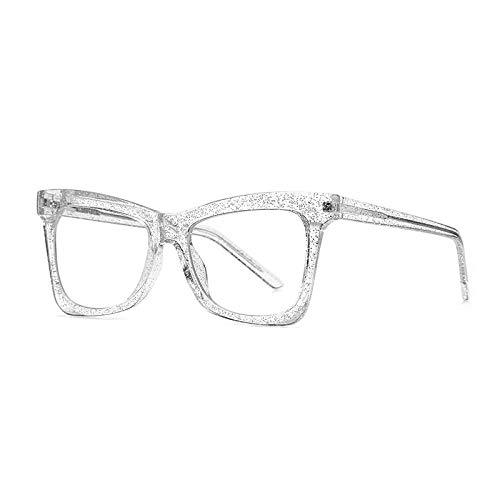 Blaulicht Blockierende Brille , Klare Linse Computer Filter Brillen 2Er Pack, Vintage Transparente Leichte Literarische Quadratische Dicke Rahmen Optische Brillen, Mode Männer Frauen Geschenk