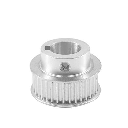 WNJ-TOOL, 1pc 3m 30t Keyway Timing Polea 8/10 / 12mm Bore Keyway Diámetro 3 / 4mm 11 / 16mm Anchura Polea de cinturón de Dientes para máquina láser (Color : Bore 10mm Key 4mm, tamaño : 11mm)