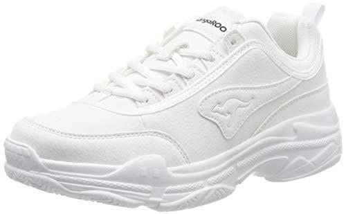 KangaROOS Damen Gator Sneaker, Weiß (White 0000), 40 EU